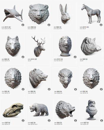 Turbosquid online store. 3d printable sculptures by nikolay vorobyev voronart.com