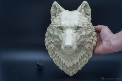 Wolf head faux taxidermy animal sculpture wall mount home decor