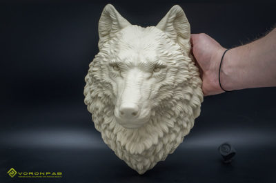Wolf head animal wall sculpture home decor