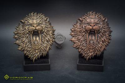 angry lion head animal sculpture bas-relief magnet souvenir