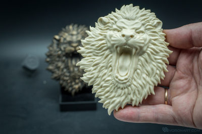 Buy Angry Lion face. Relief sculpture resin casting