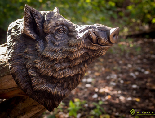 Large Wild Boar Head wall mounted Sculpture Faux Taxidermy