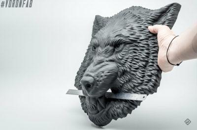 Animal head sculpture, faux taxidermy by VoronFab